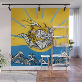 Phoenix Over The Sea Wall Mural