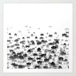 Invaded III B&W Art Print