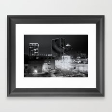 Downtown Greensboro At Night Framed Art Print