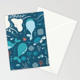 Sea creatures 004 Stationery Cards