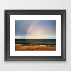 Beach Rainbow Framed Art Print