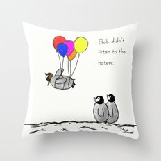 To be a Flying Penguin  Throw Pillow