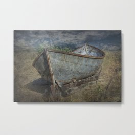 Old Historical Fishing Boat beached on the Shore Metal Print