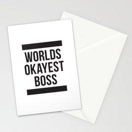 Worlds Okayest Boss Stationery Cards