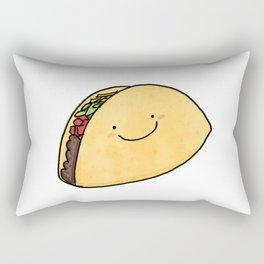 Cute Taco White Background Rectangular Pillow