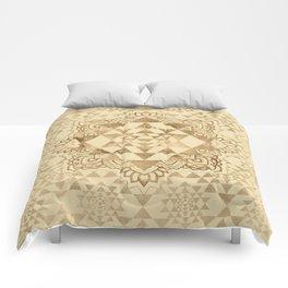 Sri Yantra  / Sri Chakra Pastel Gold Comforters