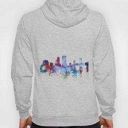 Jacksonville watercolor skyline Hoody