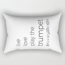 Live, love, play the trumpet Rectangular Pillow