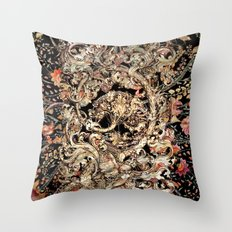 Mother Of Pearl Owl On Floral Background Throw Pillow
