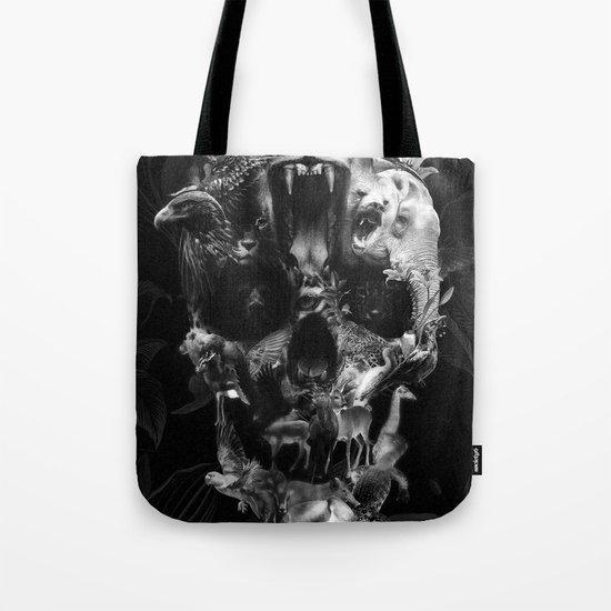 Kingdom Skull B&W Tote Bag