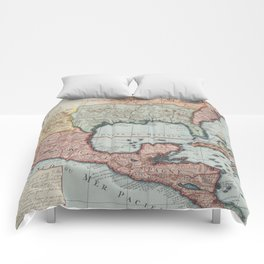 Vintage Map of The Gulf of Mexico (1732) Comforters
