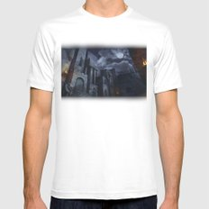 The Castle MEDIUM Mens Fitted Tee White