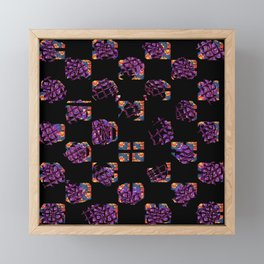Square and flowers Framed Mini Art Print