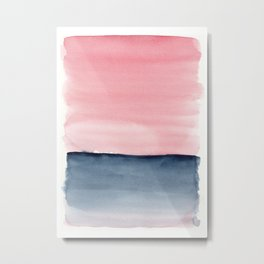 Pink Indigo Abstract No. 1 Metal Print