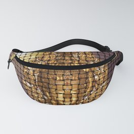 golden buddha modern abstract pattern Fanny Pack