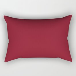 Burgundy Red Solid Color Rectangular Pillow
