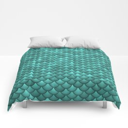 teal scales Comforters