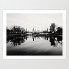Chicago Skyline from South Pond Art Print