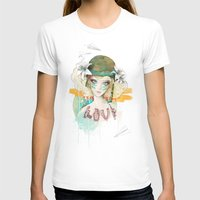airplanes T-shirts featuring War girl by Ariana Perez