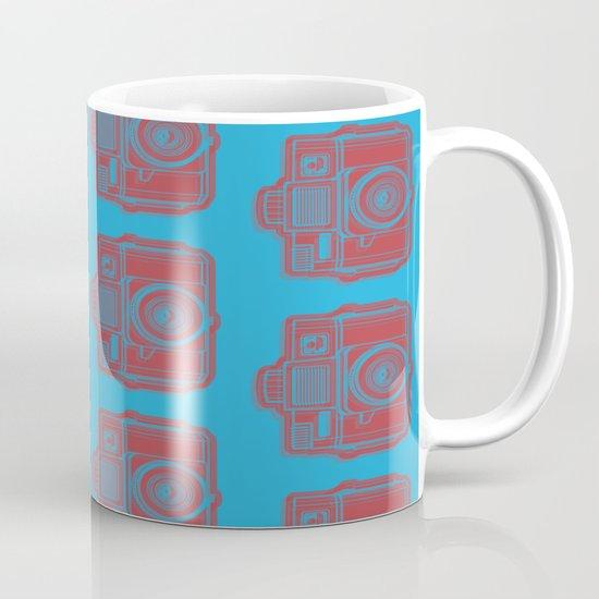 I Still Shoot Film Holga Logo - Blue & Red Mug