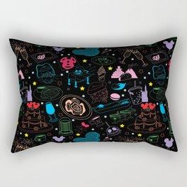 Tasting the Magic - Black Rectangular Pillow