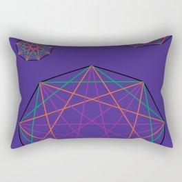 Nonagon Triad Violet Rectangular Pillow