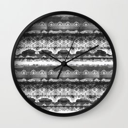 Skull Lace Wall Clock