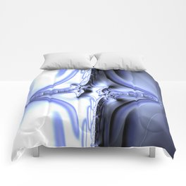 Blue Diamond Abstract Fractal Comforters