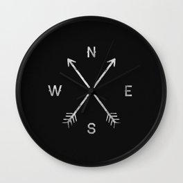 Arrow Compass Wall Clock