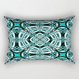 Turquoise Leaf Fashion Design Rectangular Pillow