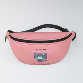 Chibi Anime Thing Cat Girl Otaku Manga Kawaii Gift Fanny Pack