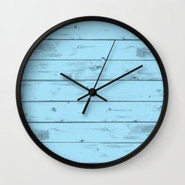 Blue Wood Texture Wall Clock