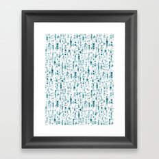 Crowd Pattern Framed Art Print