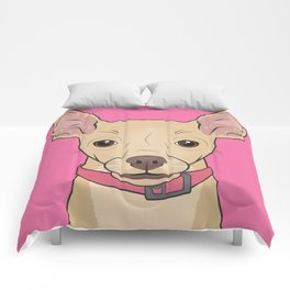 Chihuahua Art Poster Icon Series by Artist A.Ramos.Designed in Bold Colors Comforters