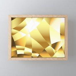 Golden Polygonal Background Framed Mini Art Print