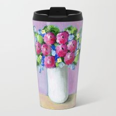 Pink Bouquet Travel Mug