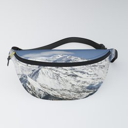 Mt. Blanc with clouds Fanny Pack