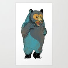 Mr.Grizzly Art Print