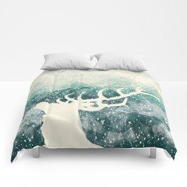 Oh Deer Green Comforters