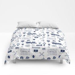 Railroad Symbols // Navy Blue Comforters