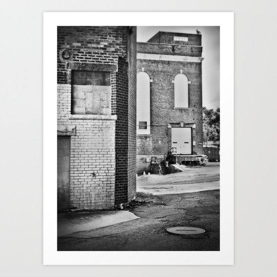 Mono Brick III Art Print