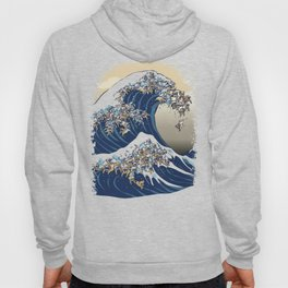 The great wave of english bulldog Vanilla Sky Hoody