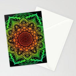 Mushroom Love Rainbow Mandala Stationery Cards