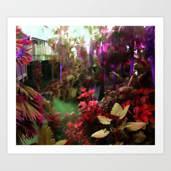 Rainbow Tropical Garden Art Print