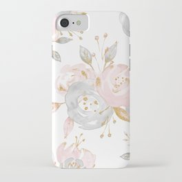 Roses Gold Glitter Pink by Nature Magick iPhone Case