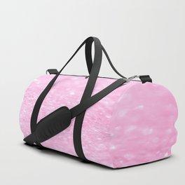 Pink Shiny Glitter Abstract Bokeh  Duffle Bag