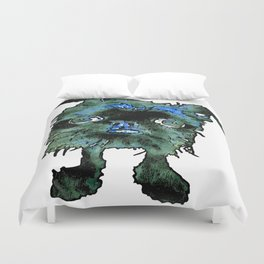 Lugga The Friendly Hairball Monster For Boos Duvet Cover