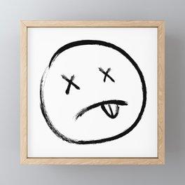 Dead eyes black Framed Mini Art Print