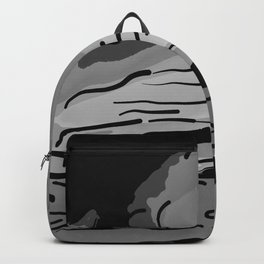 abstract style aurora borealis absbw Backpack