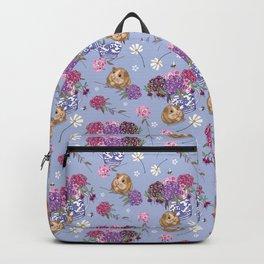 Guinea Pig Pattern on Light Blue Backpack